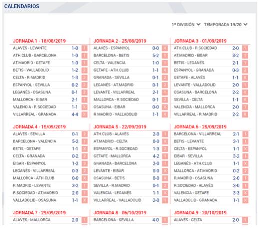 decidir en frente de Alienación  Calendario Primera y Segunda División de Fútbol. Consulta el calendario de  la quiniela | Eduardo Losilla, la web del Quinielista